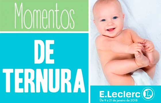 Folheto E-Leclerc Momentos de Ternura