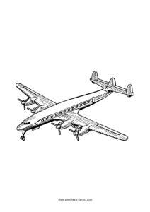 Clique aqui para imprimir o avião para colorir