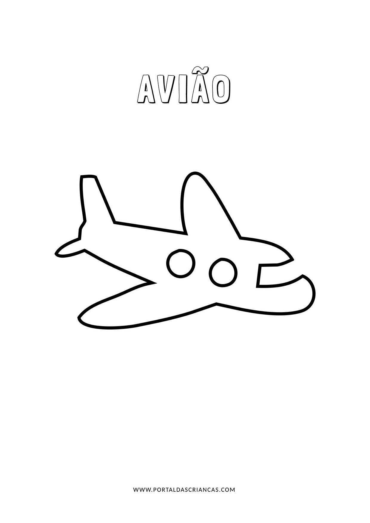 Aviao Para Colorir Portal Das Criancas