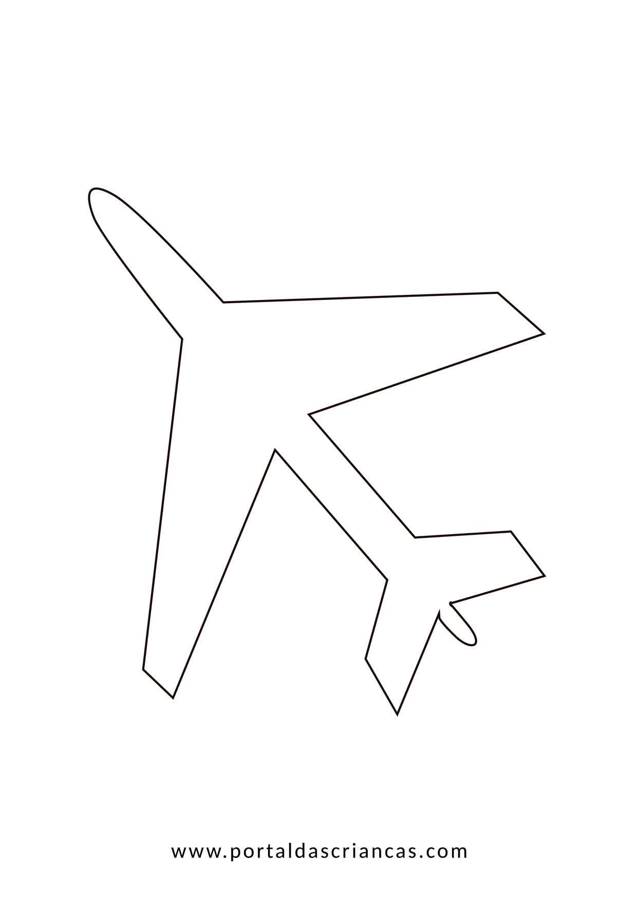 avião para colorir portal das crianças