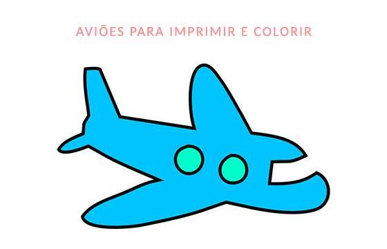 aviões para imprimir e colorir