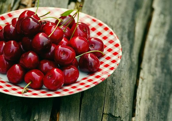 gelado de cerejas