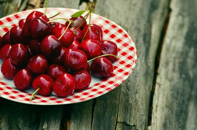 Receita de gelado de cerejas