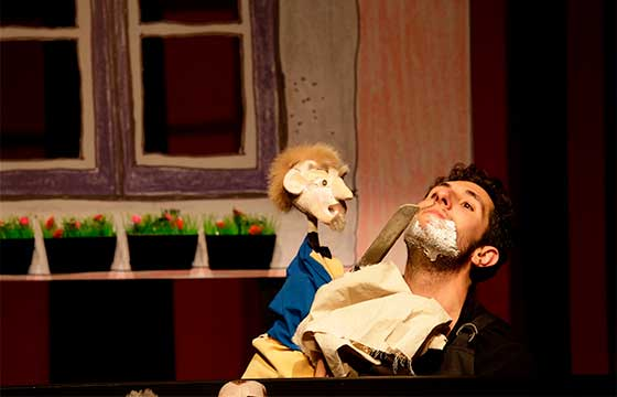 O Barbeiro de Sevilha teatro de fantoches