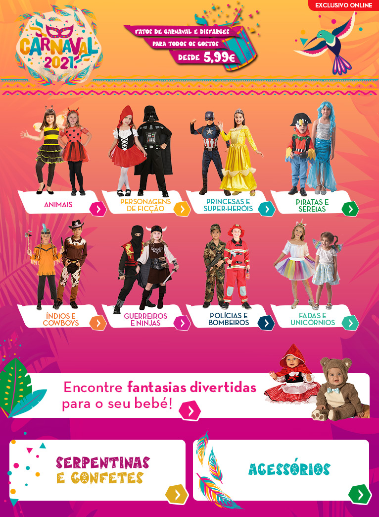 Folheto Continente Carnaval 2021