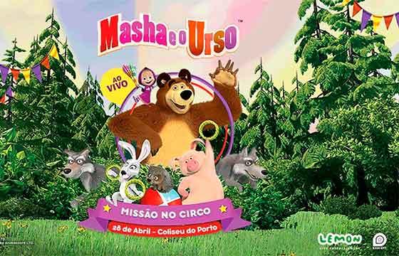 Espetáculo Masha e o Urso no Porto